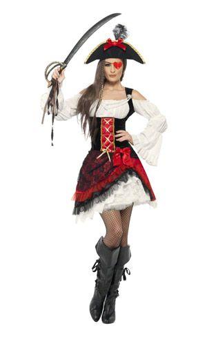 Glamorous Lady Pirate Costume.