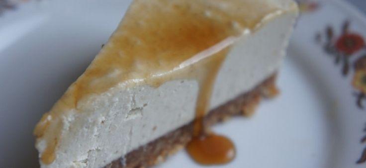 No-bake simpele cheesecake (suikervrij, zuivelvrij, glutenvrij)
