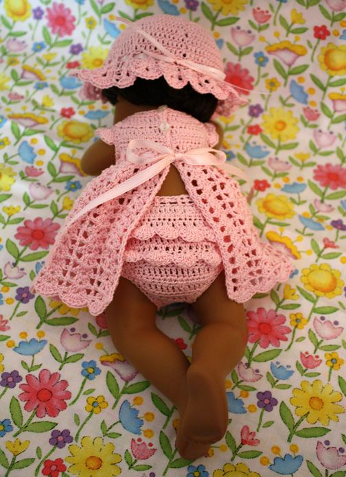 Back of the Baby Sunny outfit, featuring rumba ruffles on the back of the panties.
