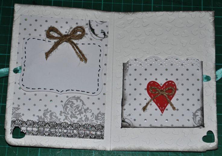 interno wedding card: bigliettino auguri e tasca posrtasoldi