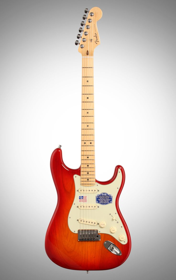 Fender American Deluxe Stratocaster Ash Electric Guitar (Maple with Case), Aged Cherry Sunburst