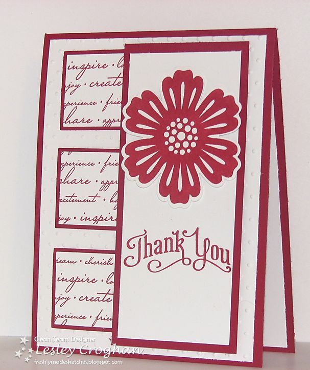 Stamper:  Lesley Croghan    I love this layout, I have to use it.Sketches 36, Cards Ideas, Cards Scrapbook, Bunch Blossoms Punch, Mixed Bunch, Cards Paper, Bunch Cards, Lesley Croghan, Su Mixed