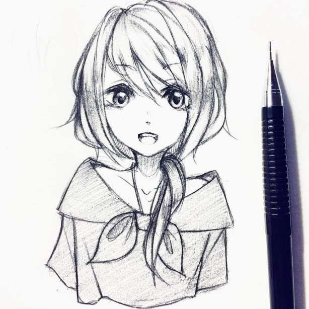 Pin On Girl Drawing Sketches