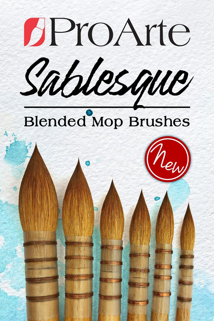 Pro Arte Series 45 Sablesque Blended Mop Brush in 2019 | Lovely Art