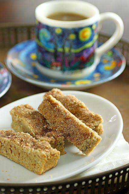 Espresso Cinnamon Toast Shortbread Cookies
