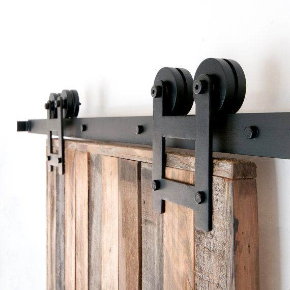 Industrial/clásico doble rueda deslizante Hardware armario puerta de granero