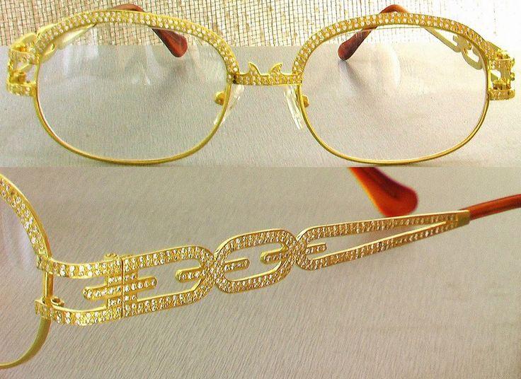 Solid Gold Eyeglass Frames : Nisstiiv Gold lovebird eye glasses Turn heads with the ...