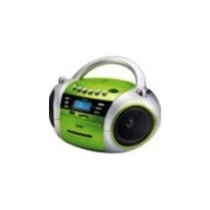 JWIN JXCD573 GREEN BOOMBOX PORTABLE RADIO MP3 USB CD PLAYER FREE SHIPPING