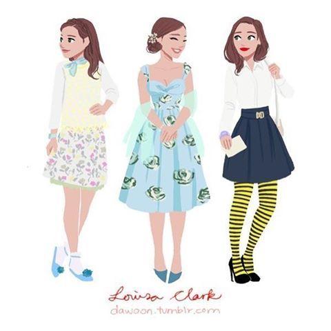Ilustração fofa para dizer que fiz um post lá no blog (link na bio) com 20looks lindos da Emilia Clarke! Passa lá e me diz o seu favorito