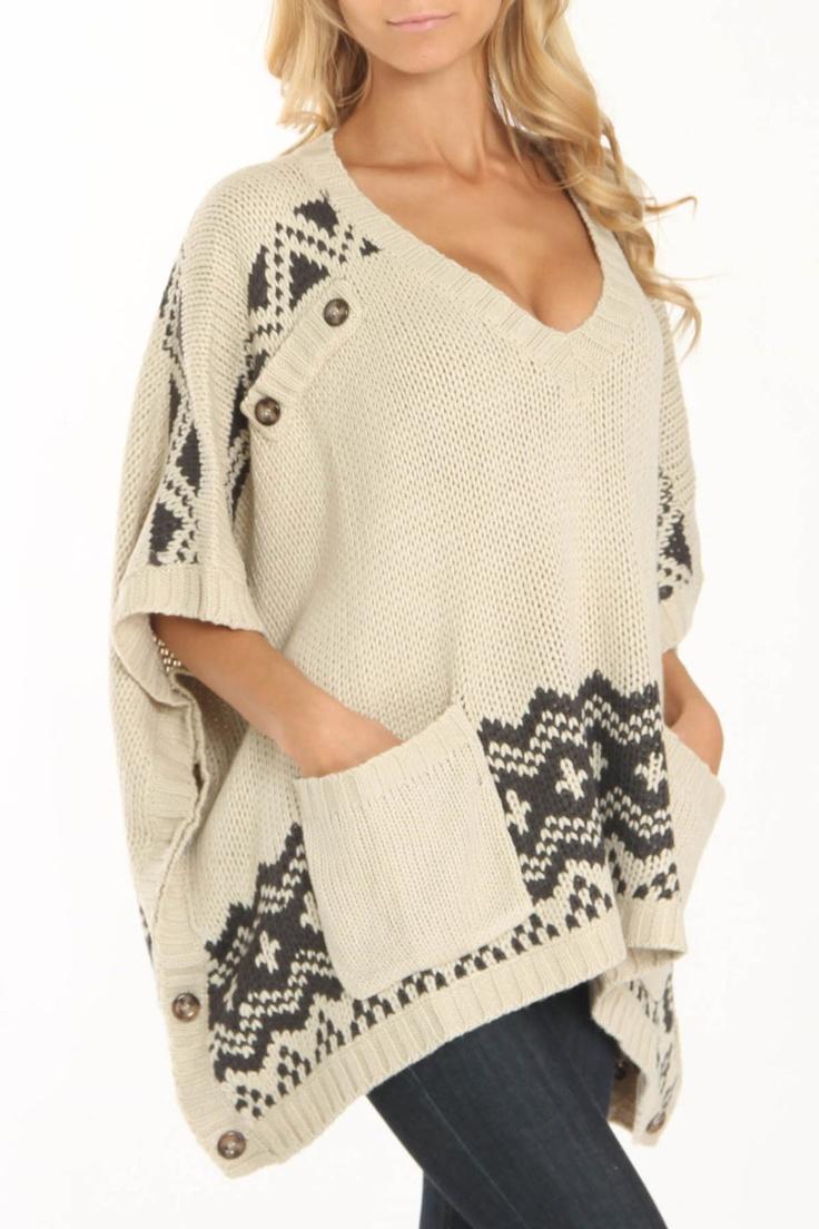 Elan Lanice Long Sleeve Sweater In Sand