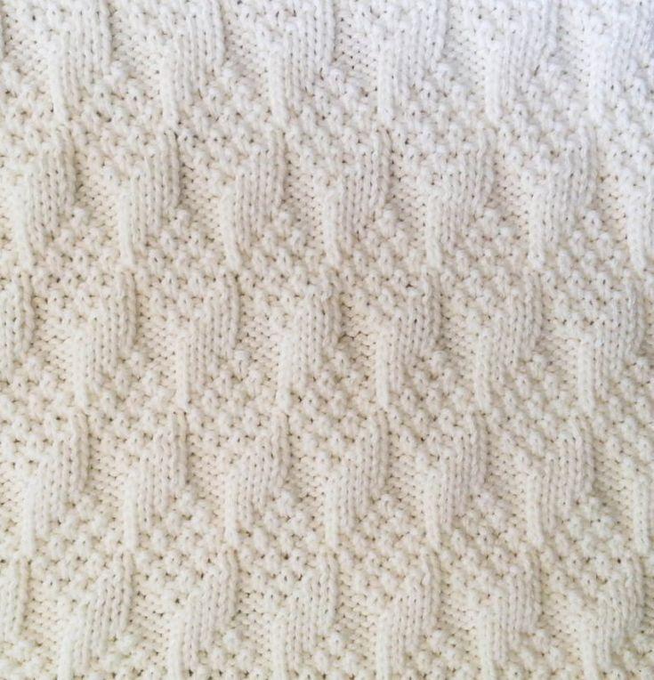 Padrão de confecção de malhas para cobertor de bebê reversível de textura de diamante