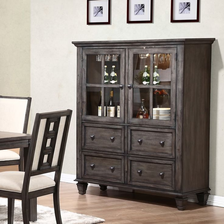 Lancaster Tall Sideboard In Espresso   Dining Room Furniture