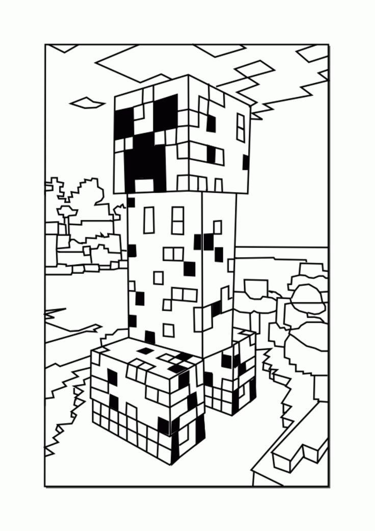 33 best Minecraft coloring images on Pinterest Coloring books