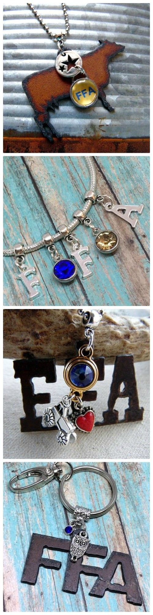 FFA Jewelry - show your FFA spirit with unique FFA jewelry and gifts from Whippoorwill Valley! www.whippoorwillvalley.etsy.com