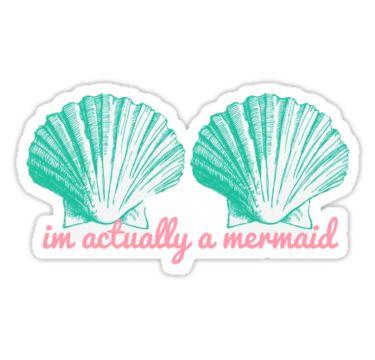 Sticker für Meerjungfrauen   Aufkleber   Muscheln   pastell   pink