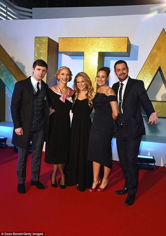 Big night! Maddy joined her EastEnders co-stars Danny-Boy Hatchard, Kellie Bright, Luisa B...