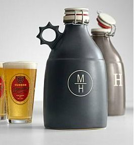 A 20th anniversary gift idea for your husband - his very own Portland growler to store his favorite beer - a perfect gift if he likes beer and it is made from the traditional 20th anniversary gift material - ceramic china