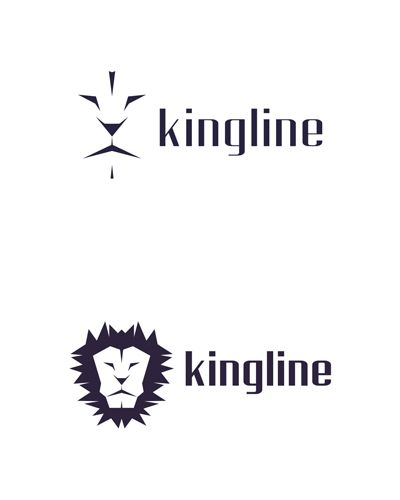 kingline, king, lion, experimental concept, logo design for sale
