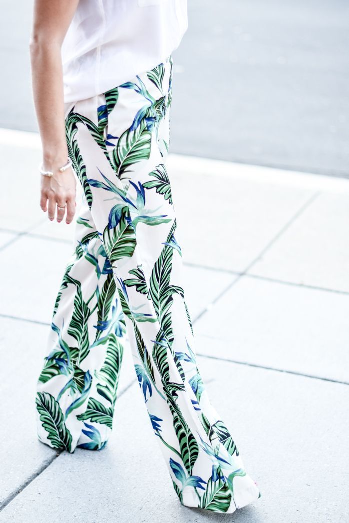 Fashion Fix: Beautiful Botanicals! Take a walk on the wild side! Where would you wear these botanical printed pants to?