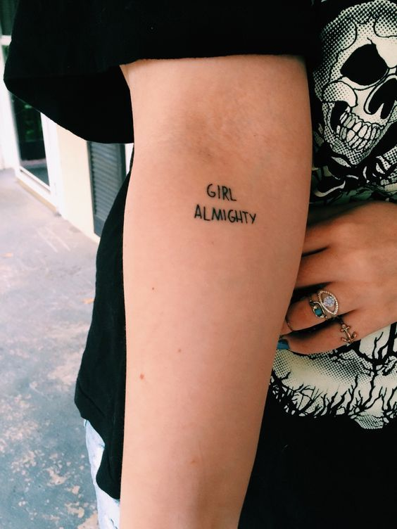 21 Feminist Tattoos to Make You Feel Major Girl Power - Cosmopolitan.com                                                                                                                                                                                 More