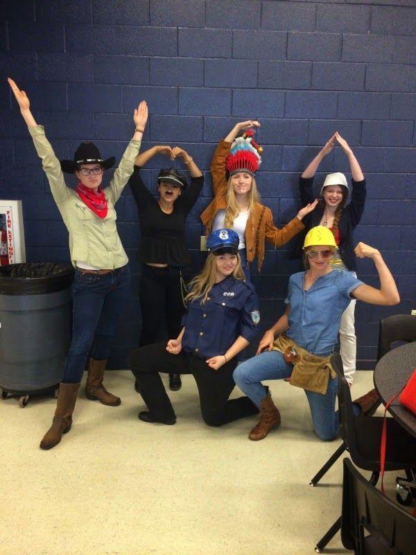 Halloween group costume: the VIllage People