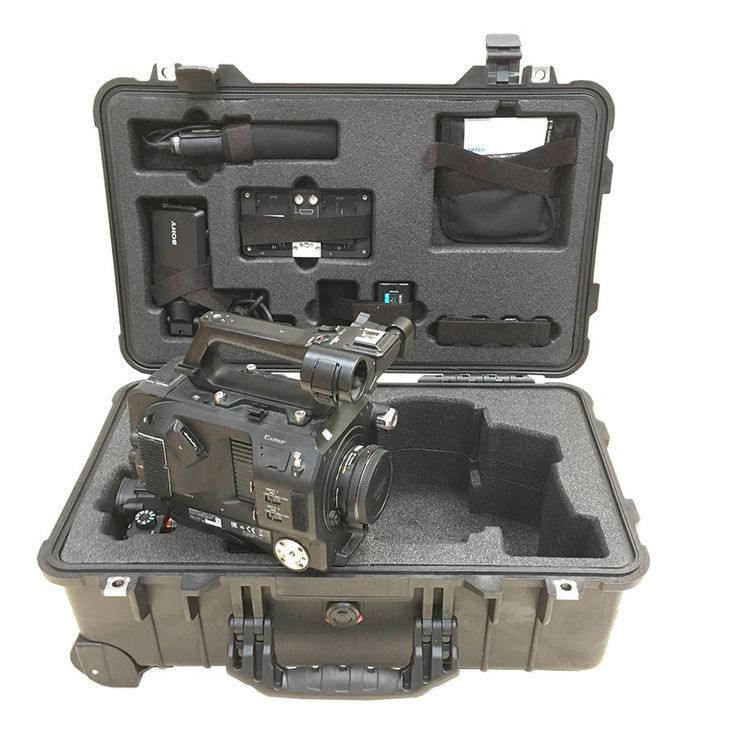 Foam Insert for Sony PMW-FS7 Camera and SmartHD 502 Monitor + Sony A7S2 Camera to fit Peli 1510, Part of A 2 Case Set
