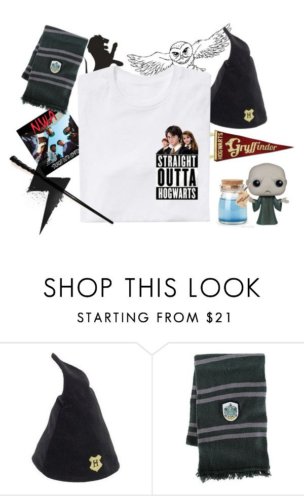 """""""Straight Outta Hogwarts"""" by htotheizzyclothing on Polyvore featuring Elope, Funko, harrypotter and NWA"""