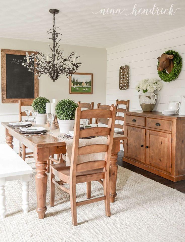 everyday enchanting Farmhouse Dining Room Makeover http://www.ninahendrick.com/farmhouse-dining-room-makeover/ via bHome https://bhome.us