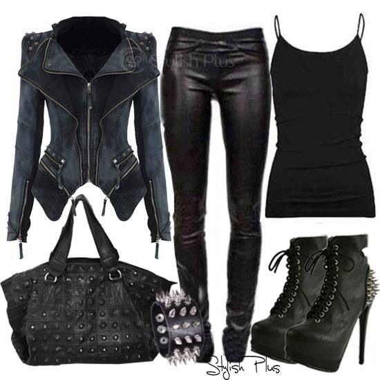 1000+ ideas about Dark Edgy Fashion on Pinterest | Dark fashion Goth chic and Grunge winter outfits