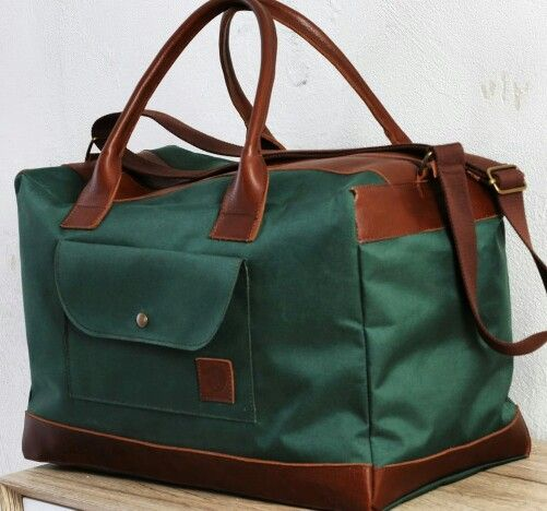Bolsa de viaje en tela de mochila y piel