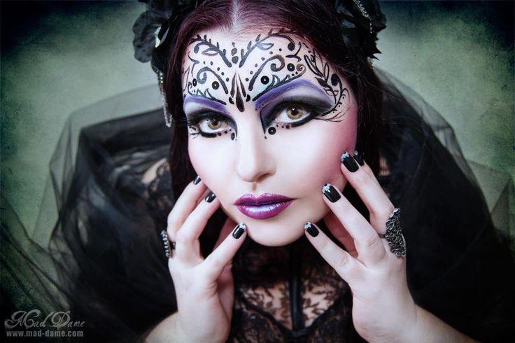 make up and photo by Mad dame #gothic #goth #gothgirl #gothicgirl #dark #fantasty #makeup #creative  #purplelipstick #flowers #cherryblossoms #jocelynlothian #jocelynlothianalternativemodel #neckcorset #maddame  Find model on face book - Jocelyn lothian (alternative model)