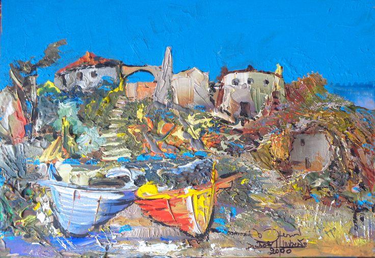 Paesaggio marino con barche  https://www.etsy.com/it/listing/239206900/paesaggio-con-barche?ref=listing-shop-header-0