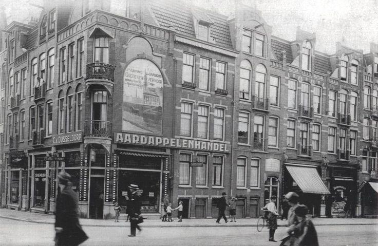 Jan Pieter Heijestraat, hoek Jacob van Lennepkade. Begin 1900.