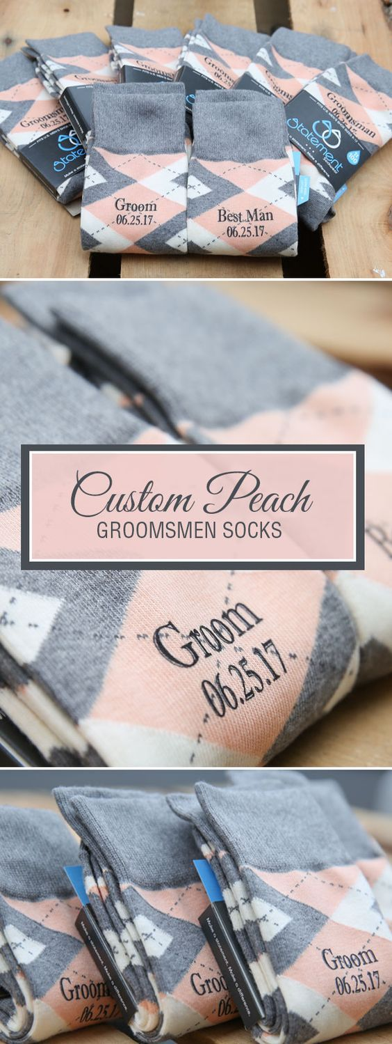 Looking for a way to customize your wedding? We are now customizing our most popular wedding colors with wedding dates, wedding text and monograms. Give your groomsmen in your wedding a gift they will never forget that will always remind them of your big wedding day. Shop these custom socks and more.