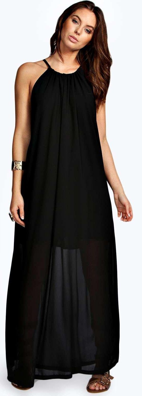 Suzie Chiffon High Neck Maxi Dress - Dresses - Street Style, Fashion Looks  And Outfit