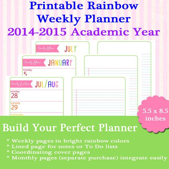 Printable Monthly Planner 2015: 17 Best Images About Organization On Pinterest