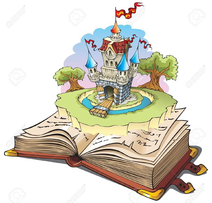 Magic World Of Tales, Fairy Castle Appearing From The Old Book,.. Royalty Free Cliparts, Vectors, And Stock Illustration. Pic 8028378.