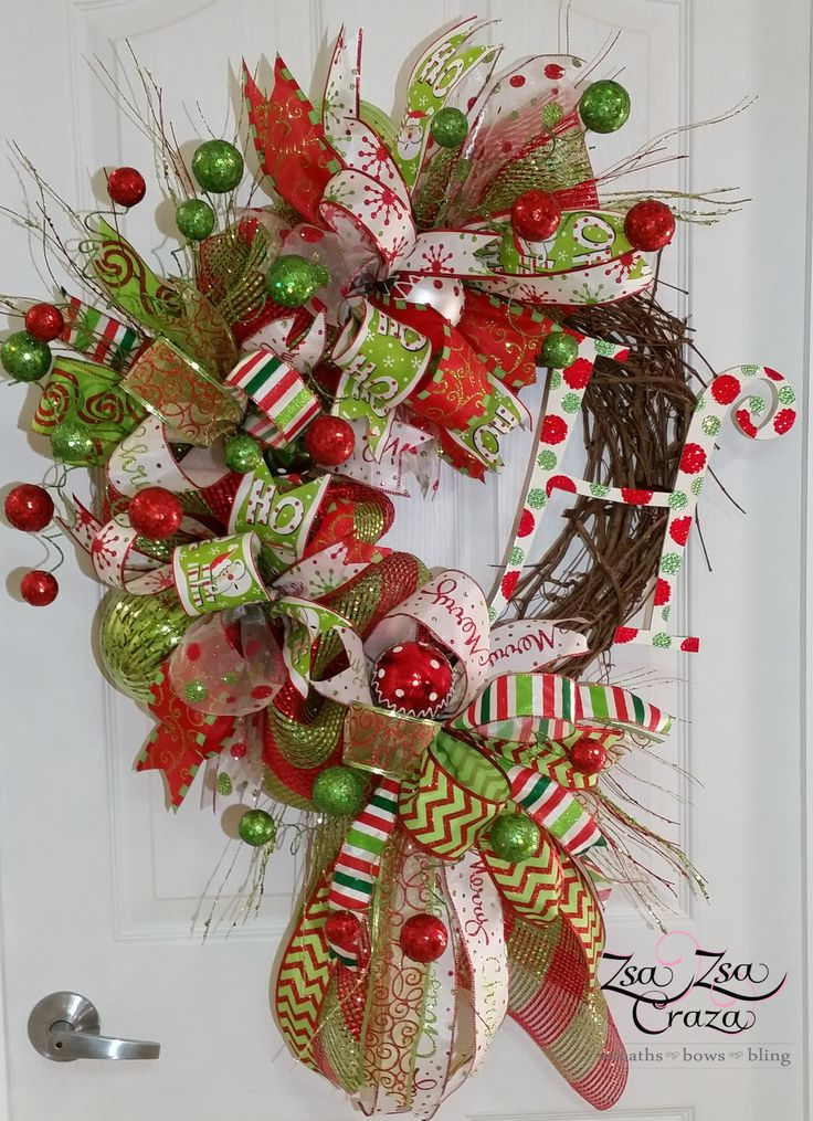 Wonderful 11 best Funky Bow Grapevine Wreaths images on Pinterest | Deco  QE13