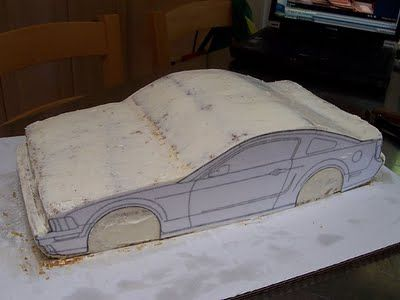 Just Outta the Oven!: Mustang Bullit Car Cake Tutorial