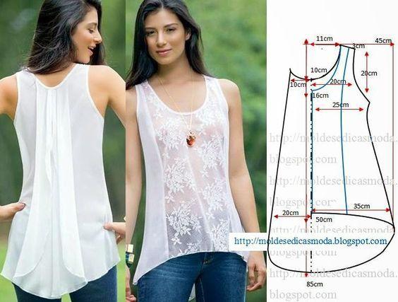 Resultado de imagen para moldes de blusas de moda