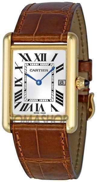 CartierTank Louis 18kt Yellow Gold Men's Watch | juwelier-haeger.de