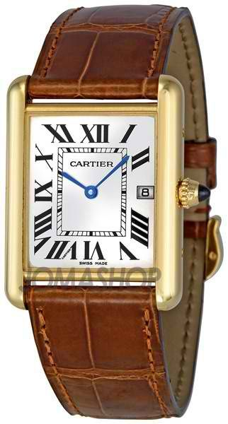 CartierTank Louis 18kt Yellow Gold Men's Watch | juwelier-haeger.de