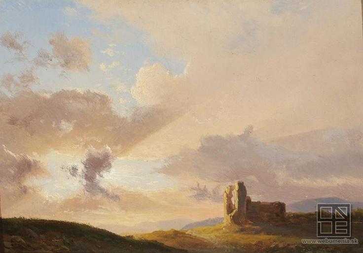Karol Marko st. - Ruin at the sun dawn / Ruina pri západe slnka (1835-1850)