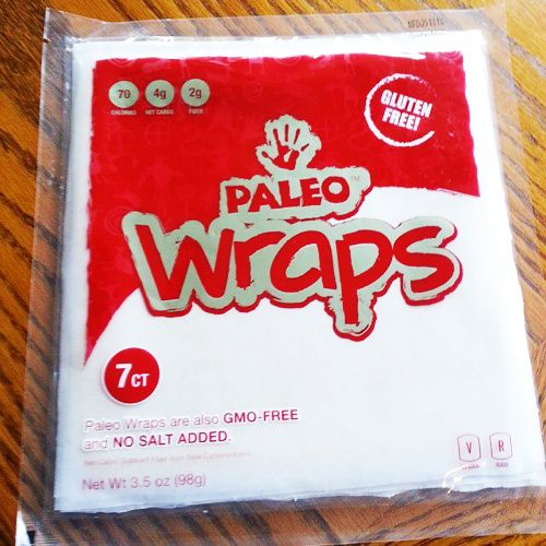 Coconut Wraps contain just coconut, thats it. While not advocating paleo diet; I am happy to have this available for my clients that have adverse reactions to other ingredients.