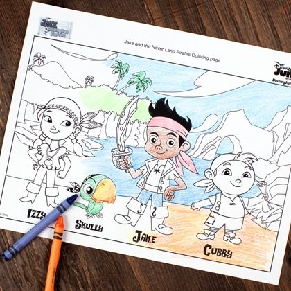 Jake and the Never Land Pirates Coloring Page #DisneyJunior