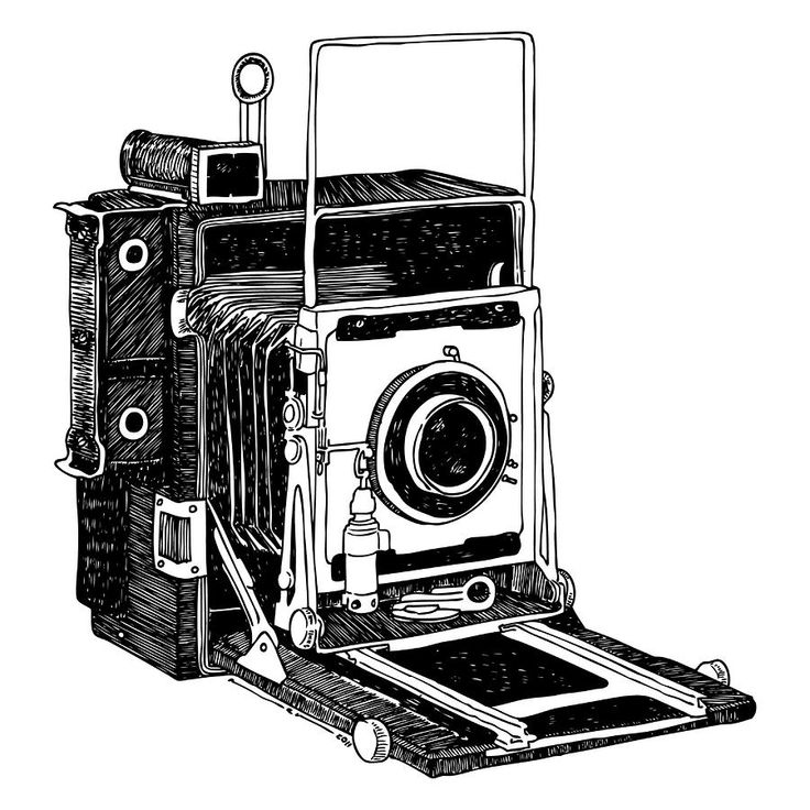 Old Timey Vintage Camera Drawing by Karl Addison - Old Timey Vintage Camera Fine Art Prints and Posters for Sale