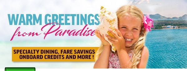 Take a look at these weekly travel deals from Princess Cruise Lines, Royal Caribbean Cruise Lines, Celebrity Cruise Lines and more! Book your amazing Cruise today with warm greetings from Paradise!
