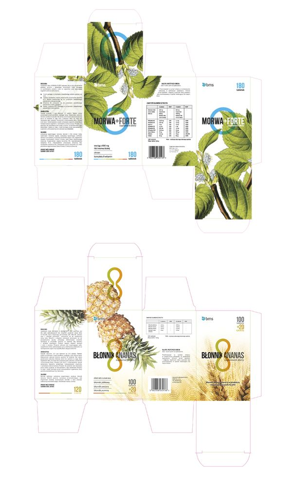 Diet supplements - package design for BMS
