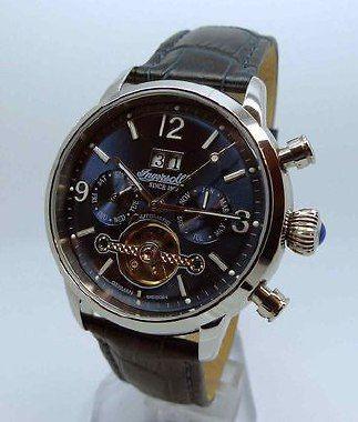 """Ingersoll IN1826BL  """" INGERSOLL """" Uhren sind seit 1892 der Inbegriff traditionsreicher Markenuhren aus Amerika.  Sie stehen für Meilensteine in der Entwicklung von mechanischen Armbanduhren.  Wer mechanische Uhren zu schätzen weiß, wird von der Faszination dieser Uhr begeistert sein!  Einst trug """"Mahatma Gandhi"""" eine Ingersoll Uhr, die er wegen ihrer Zuverlässigkeit sehr schätzte."""