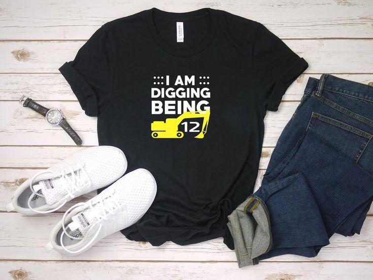Ich grabe sein 12 – lustiges Löffelbagger-Shirt – 12. Geburtstag – 12 drehen – Löffelbagger-Geburtstag – zwölf Jahre alt – Geburtstagsgeschenk   – Mr. Pap International T-Shirts